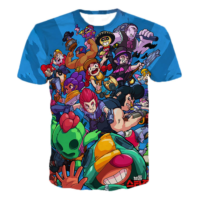 Game Brawl Stars 3D Printed   T     Shirts   Spring Tops Summer Tees Men Women Short Sleeve Casual Personaity   T     Shirts   3XS-5XL