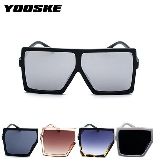 4267cb7321 YOOSKE Oversized Sunglasses for Women Men Luxury Brand Designer ...