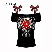 2017 Special T Shirts Women Summer Tarajuku Cold Off The Shoulder T-shirts Woman Tshirt Tops Punk Shirt Femme Plus Size Clothes