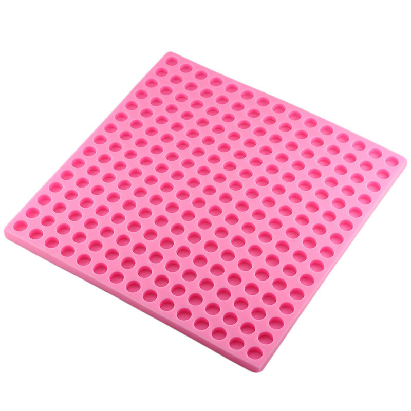 Image 3 - 3D 225 Hole Round Shape Chocolate Silicone Mold Sugar Candy Clay  Molds Fondant Cake Decorating Tools DIY Party Cupcake BakingClay  Extruders
