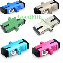 Fiber Optic Adapter Adaptor Coupler SC-SC Simplex Low Insertion Loss Sleeve GoodFtth 100pcs/lot цена и фото