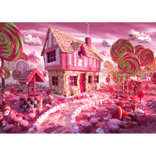 Photography background pink candy baby fairy tale House photo backdrop Customize props Backdrop for Photo Studio F-1514