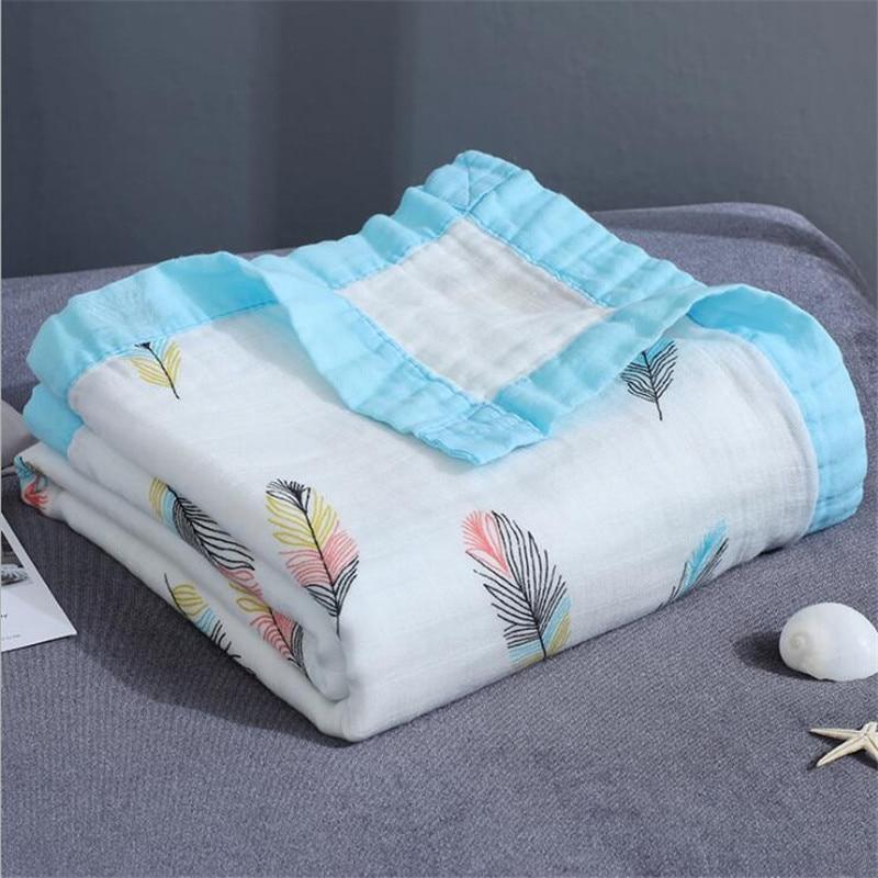 4 слоя детская муслиновая пеленка одеяло бамбуковое хлопковое детское одеяло для коляски детское одеяло 110x120 см муслин животные динозавры одеяло-in Одеяла и пеленки from Мать и ребенок