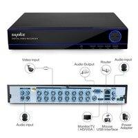 Sannce 16ch 1080n CCTV DVR 16 Каналы 1080 P HDMI Выход видео Регистраторы H.264 P2P удаленного доступа обнаружения движения E-mail предупреждение