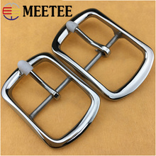 1Pc Meetee 35mm 40mm High Quality Men Stainless Steel Belt Buckles Metal Pin Buckle DIY Leathercraft Jeans Accessories