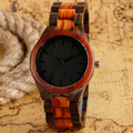 Hot New Novel Nature Wood Watch Fashion Gift Men Modern Analog Quartz Wrist Watch Bamboo Wooden Strap Trendy relogio masculino