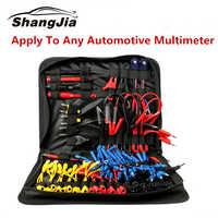 92 pièces Kit d'accessoires de câble de câblage de sonde de puissance d'essai de Circuit de voiture MT08 SRS connecteur pince crocodile pour multimètre MST9000 +