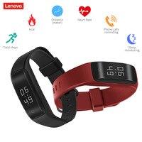 Lenovo HW01 Smart Armband Herzfrequenz/Schlaf-monitor Wasserdichte IP65 Fitness Sport Schrittzähler Armband Uhr für Android IOS