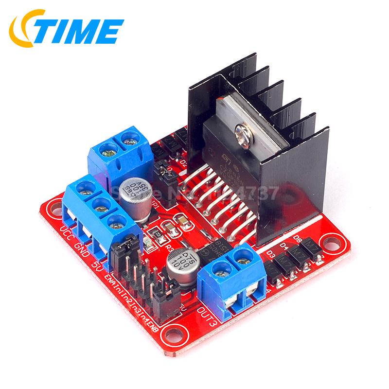 1PCS New L298N Dual H Bridge DC Stepper Motor Driver Controller Board Module for Arduino Uno R3 Raspberry Pi Starter DIY Kit