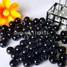 50pcs/lot bulk black pearl button 8mm/10mm/12mm plastic imitation garment sewing decoration accessories