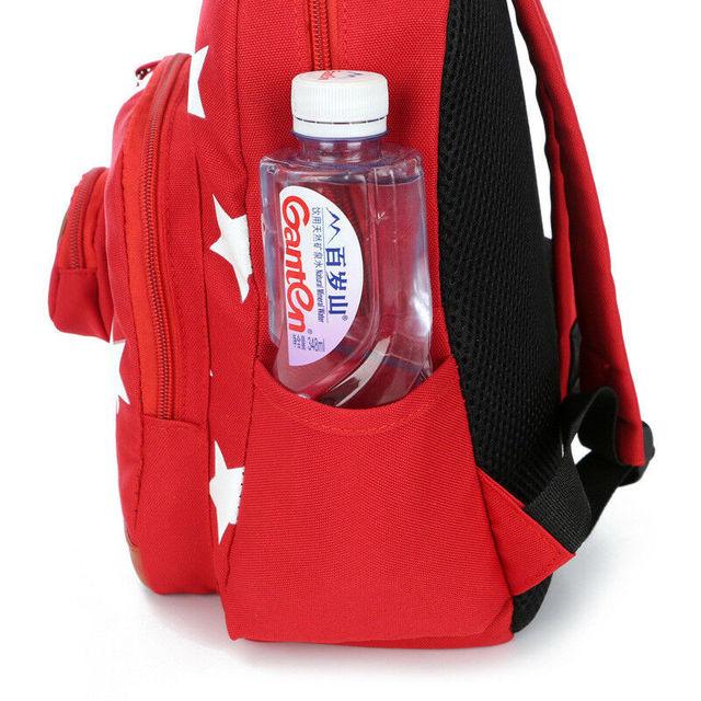 2020 Children Character Backpack Rucksack School Bag Personalised Star Pattern Zipper Kid Book 4 Colors New 4