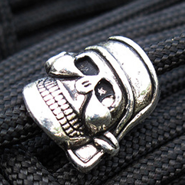 5PCS Outdoor Camping Gadgets EDC Umbrella Rope Skull Pendant DIY Weaving Anti Lost Non