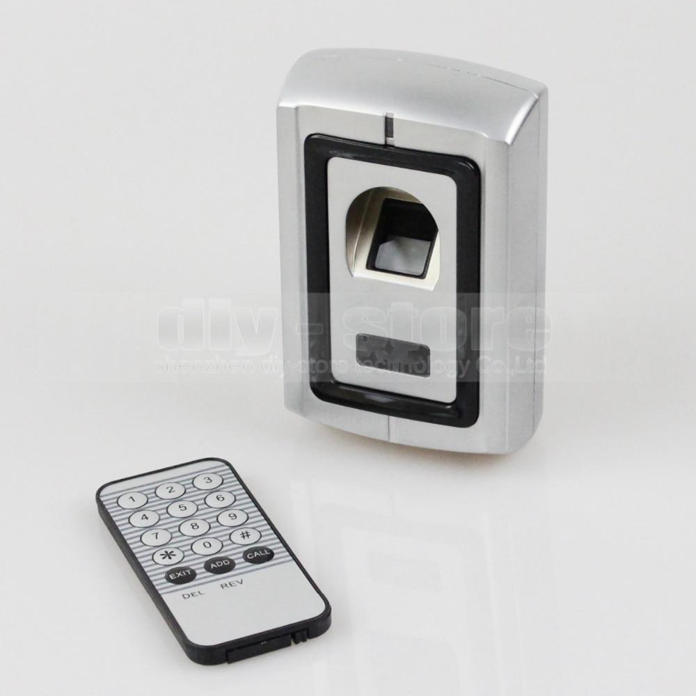 DIYSECUR Metal Case Fingerprint Door Lock Access Control Controller Kit + Remote Control F007 biometric fingerprint access controller tcp ip fingerprint door access control reader