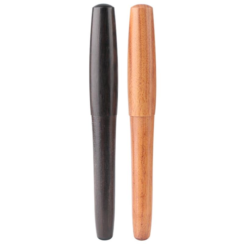 Handmade Rosewood Fountain Pen EF Nib 0.38mm Financial Pens Portable Short Pen Luxury Creative Business Office Gift italic nib art fountain pen arabic calligraphy black pen line width 1 1mm to 3 0mm