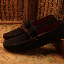 US6-10 Новый замши Галстук Вскользь SLIP-ON loafer мужчины зашнуровать обувь для вождения 8 цвета