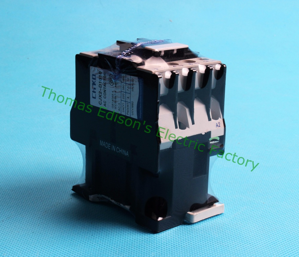 Contactor CJX2-1810 18A switches LC1 AC contactor voltage 380V 220V 110V 48V 36V 24V 12V sayoon dc 12v contactor czwt150a contactor with switching phase small volume large load capacity long service life