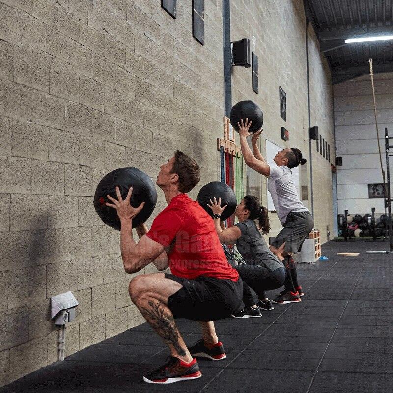35 centímetros Crossfit Medicine Ball Unfilling Bolas de Parede Pesados Arrebatar Exercício Kettlebell Levantamento De Aptidão MB Construção Muscular