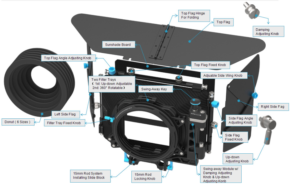 FOTGA DP500III Pro DSLR მქრქალი ყუთის - კამერა და ფოტო - ფოტო 6