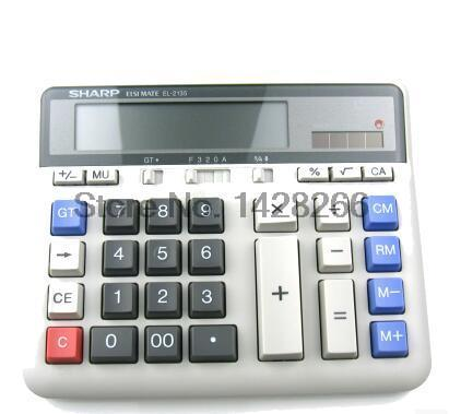 New Original SHARP EL 2135 multifunction font b calculator b font Computer Keys Bank Dedicated Calculadora