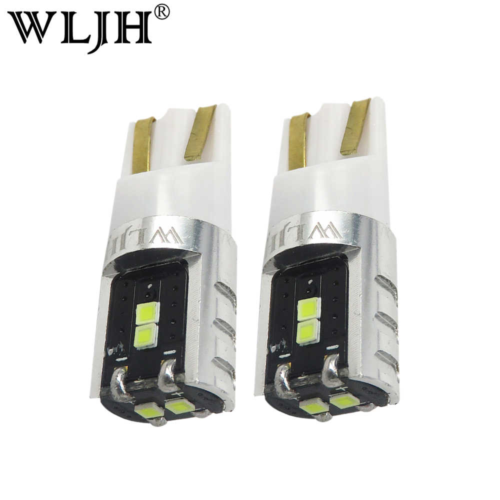 WLJH 2x High Quality LED W5W T10 Bulb 168 194 Trunk Light Map Dome Lamp AC 9V-30V Lamp For Volkswagen VW GTI Tiguan Jetta Golf