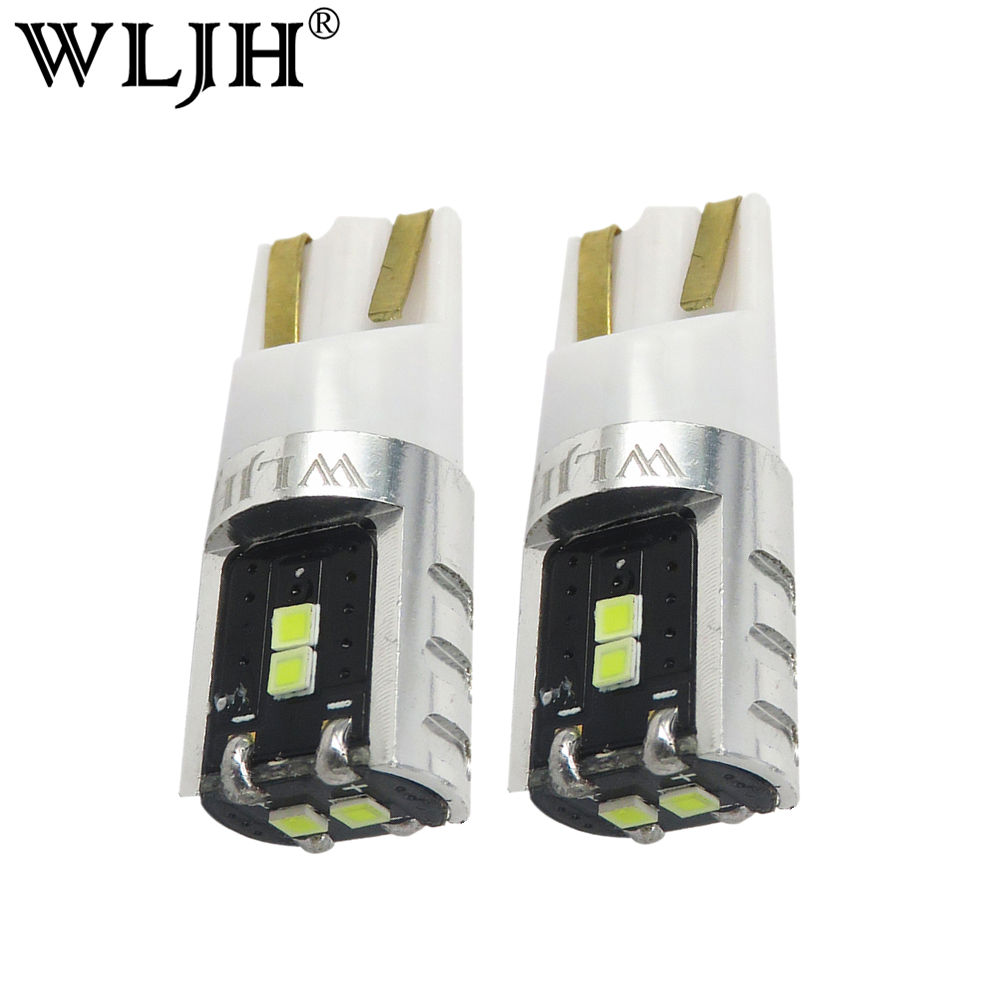 WLJH 2x High Quality LED W5W T10 Bulb 168 194 Trunk Light Map Dome Lamp AC 9V-30V Lamp For Volkswagen VW GTI Tiguan Jetta Golf car rear trunk security shield cargo cover for volkswagen vw tiguan 2016 2017 2018 high qualit black beige auto accessories