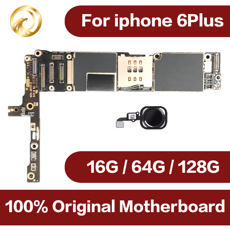 100% full unlocked for iphone 6Plus Motherboard with Touch ID,Origina for iphone6 plus Mainboard with IOS System,Free Shipping