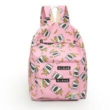 Новые женские парусиновые рюкзаки с принтом фруктов большой школьные сумки для девочек Дорожная сумка рюкзак Bolsas Mochilas Femininas