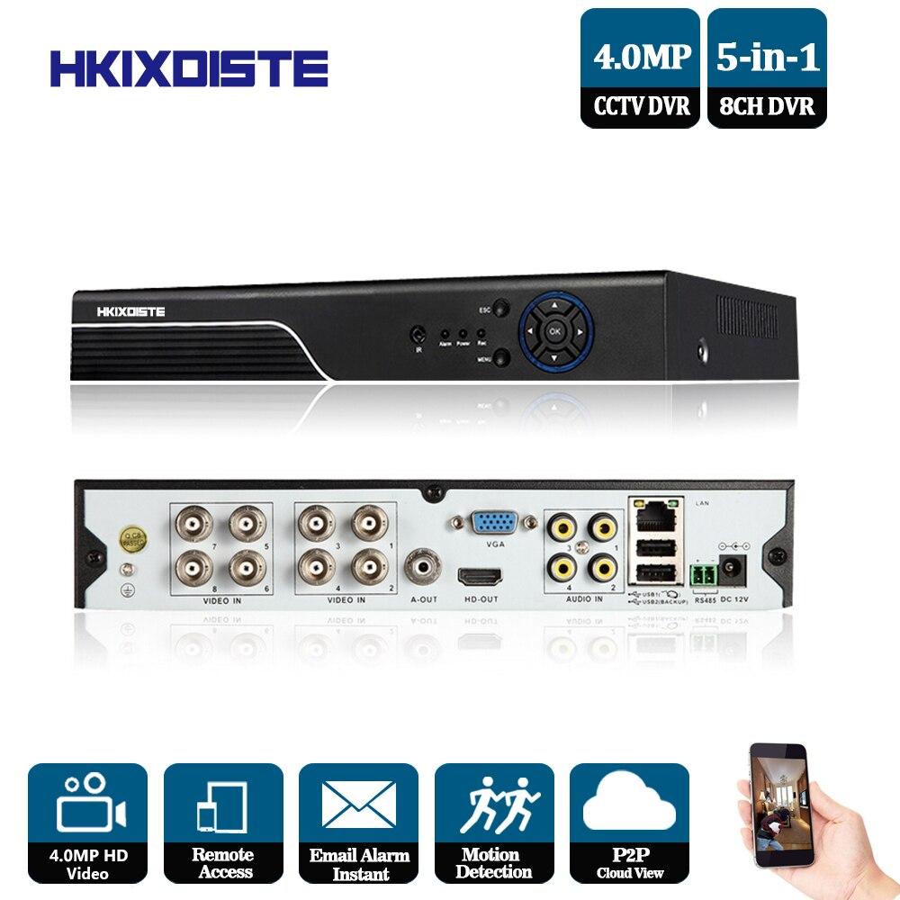 CCTV AHD DVR 8CH 4 0MP Video Surveillance 5 0MP NVR 8CH HDMI 3G WIFI P2P