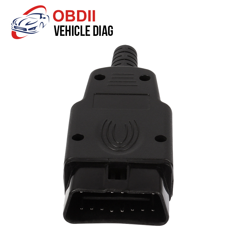 Straightforward 16 Pin Obd Connector Diagnostic-tool Obd2 16pin Adaptor Obd2 Obdii J1962 Connector Obdii Plug With Screws Elegant And Sturdy Package