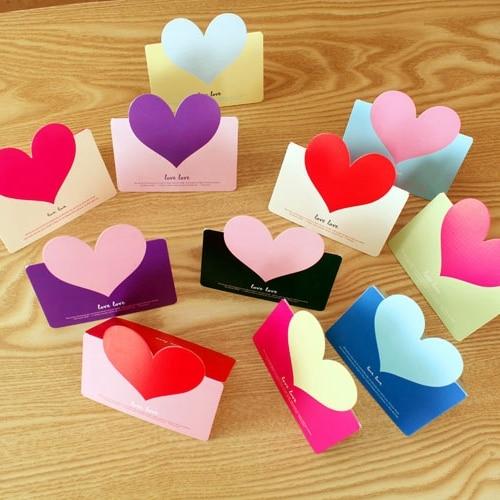 12 pcslot heart shape folding greeting card thank you card birthday 12 pcslot heart shape folding greeting card thank you card birthday christmas card on aliexpress alibaba group m4hsunfo