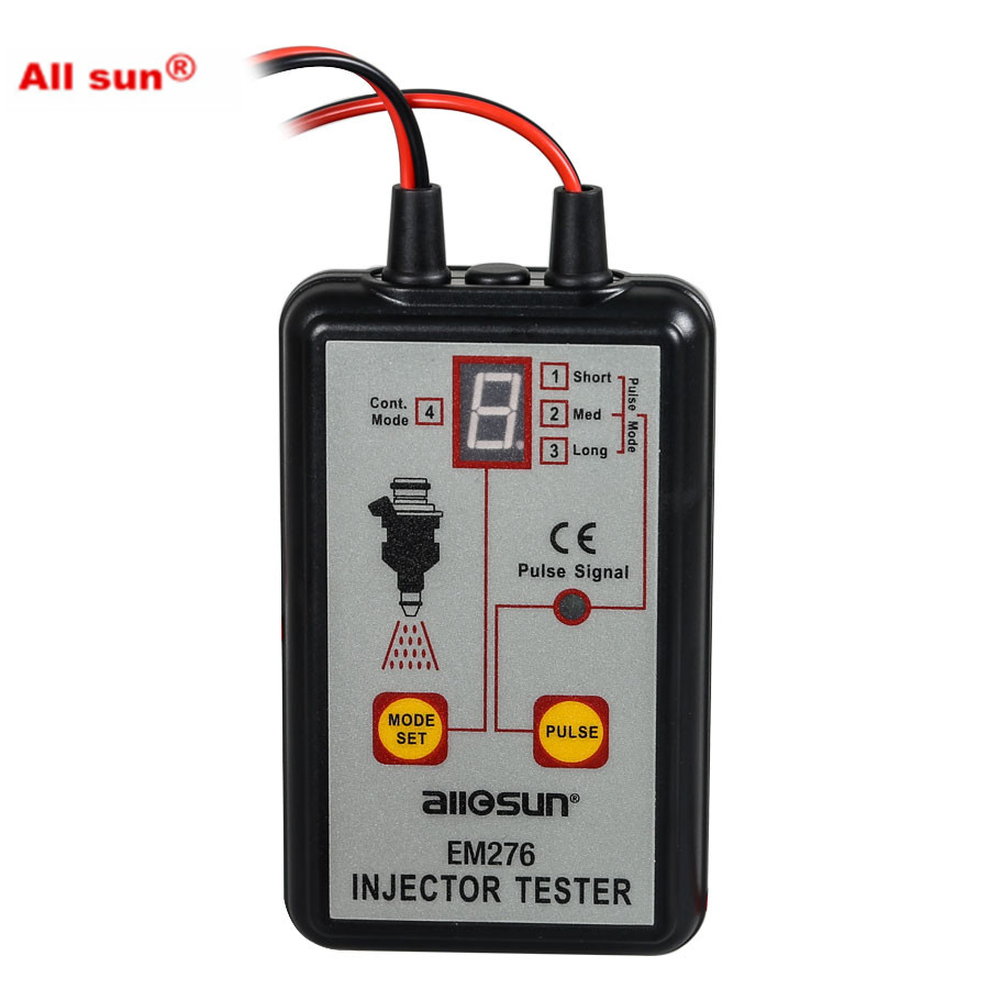 цена на ALL SUN EM276 Professional Injector Tester Fuel Injector 4 Pluse Modes Tester Powerful Fuel System Scan Tool EM276