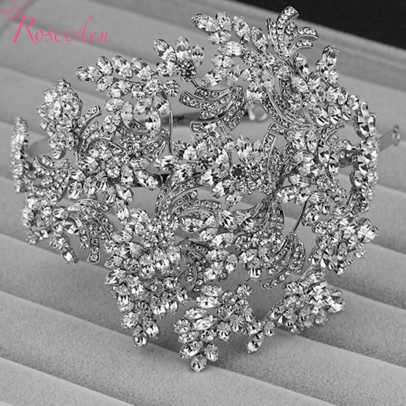Nova elegantna razkošna poročna nevesta krona za ženske - Modni nakit - Fotografija 5