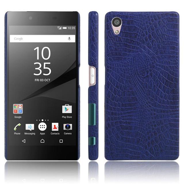 "Para Sony Z 5 Z5 Dual E6603 E6633 Caso Crocodile Pattern Rígido PC + PU De Couro de Volta Caso Capa para o sony Xperia Z5 E6653 E6683 5.2"""