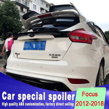 Grande spoiler per Ford Focus RS 2012-2018 di alta qualità del materiale ABS lunotto posteriore ala spoiler per Ford Focus da primer vernice