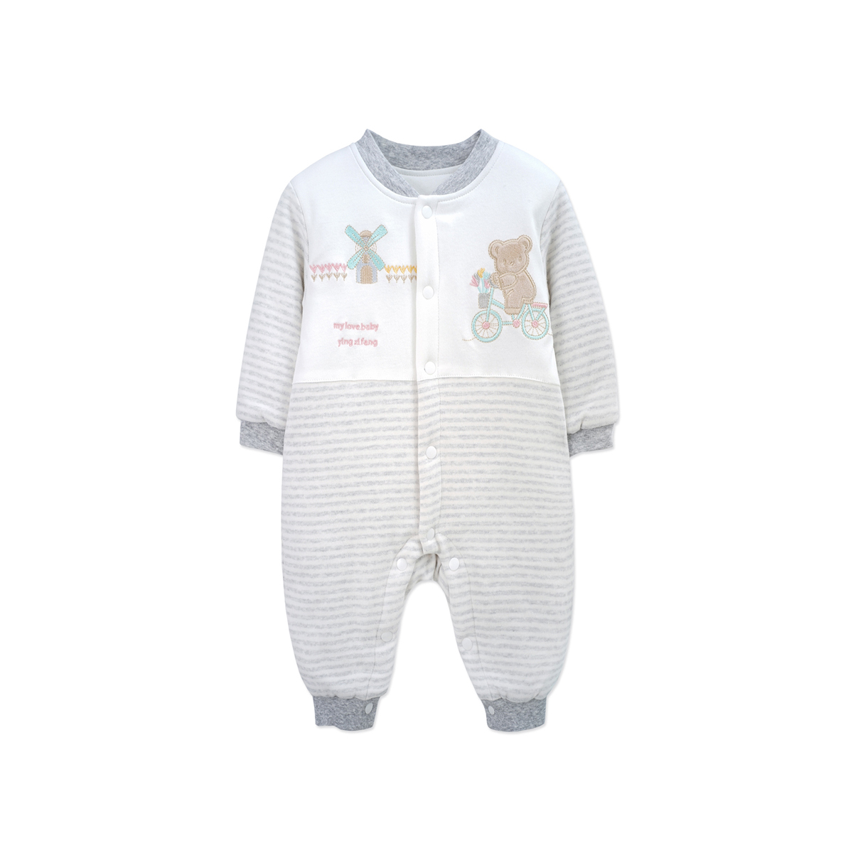 YINGZIFANG Autumn Baby Rompers 2018 Fashion Cute Pattern Newborn Clothing Soft Long Sleeve Rompers Cotton Infant Jumpsuit i k new spring autumn baby clothes infant rompers thick warm cotton jumpsuit soft pajamas flower pattern long sleeves py25040