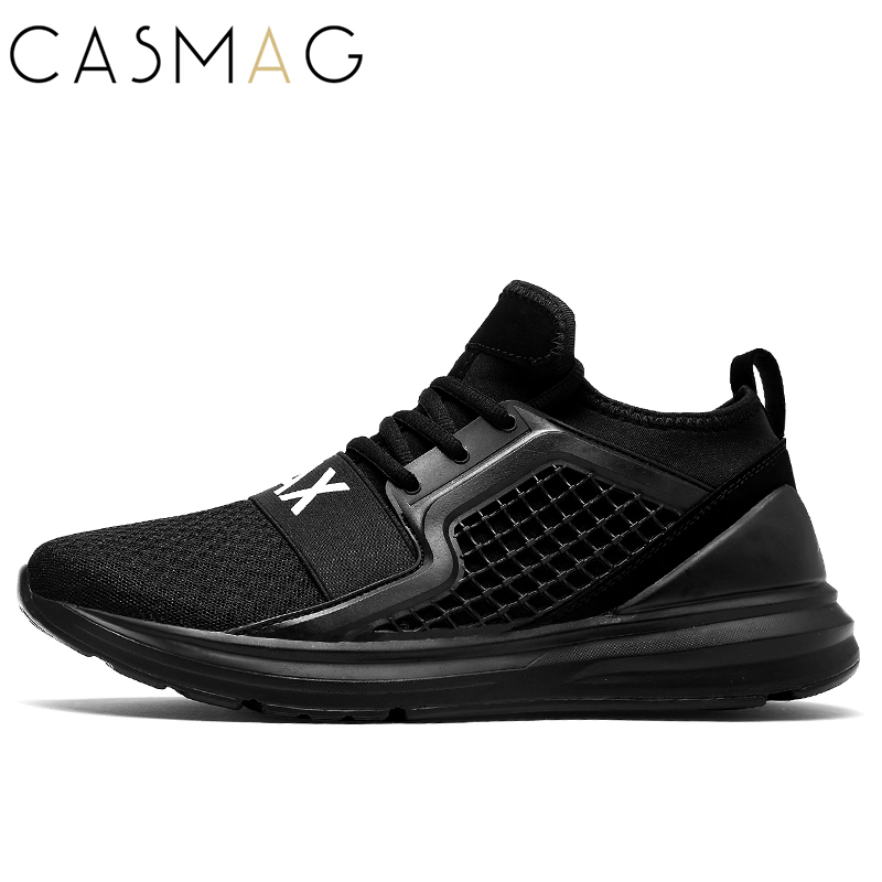CASMAG New Design Men Plus Size Running Shoes Walking Breathable Mesh Lightweight Sneakers Jogging Shoes Euro 36-47