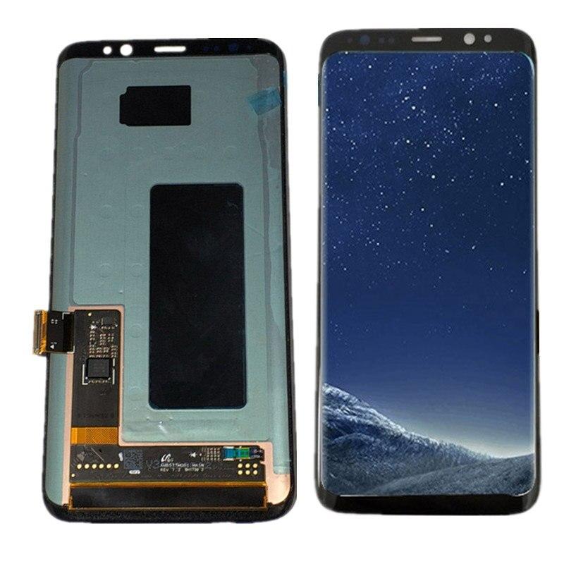 Para Samsung galaxy S8 Lcd Screen Display Toque Digitador Assembléia Para Samsung S8 G950 G950F G950U G950W lcd com Quadro