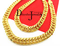 Real Heavy Men's 24k gold  plated FINISH THICK MIAMI CUBAN LINK NECKLACE CHAIN 11mm 118G 60CM