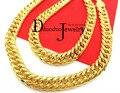 Reales pesada Men 's 24 k chapado en oro acabado grueso MIAMI collar CUBAN LINK cadena 11 mm 118 G 60 CM