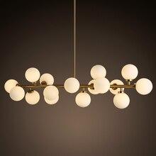 Lámpara moderna lámpara de cristal led salón comedor dormitorio iluminación lustre araña de lamparas de techo lámpara de montaje
