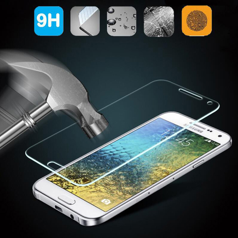 9H Tempered Glass For Samsung Galaxy J5 J7 J1 mini J3 A3 A5 A7 C5 C7 2016 S3 S5 mini S6 S4 Note 3 4 5 Screen Protector Film