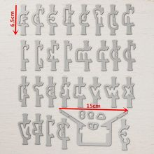 6.5cm Height Up Layering Alphabets ABC Big Metal Cutting Dies For DIY Scrapbooking Embossing Cards Decorative Crafts New 2018