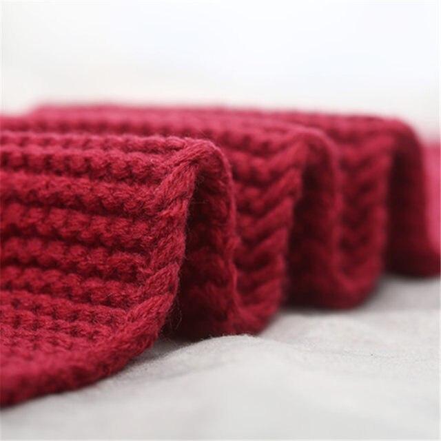 Tienda Online Nueva moda niños bufanda tejer patrón sólido Bufandas ...
