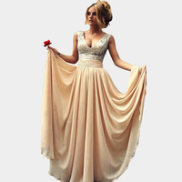Free Shipping Sequins Burgundy/Champagne Long Bridesmaid Dresses A-line V Neck Formal Party Gowns For Weddings