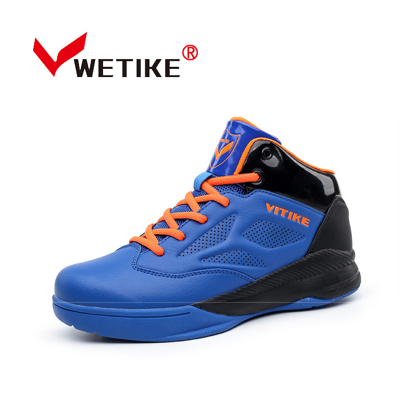 WETIKE 2017 Spring Summer Kids Basketball Shoes High Ankle Outdoor Sports Shoes Basketball Boots Sneakers For Boys Girls iverson basketball shoes male adolescents spring low help iverson war boots light wear antiskid sports shoes
