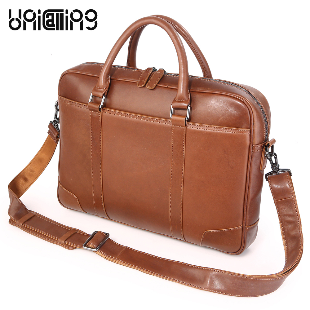 Brand quality leather 15 inch laptop bag genuine leather business men bag handbag real leather fashion men messenger laptop bag messenger bag men leather unicalling fashion quality cowhide genuine leather men bag casual men leather bag laptop bag 14 inch