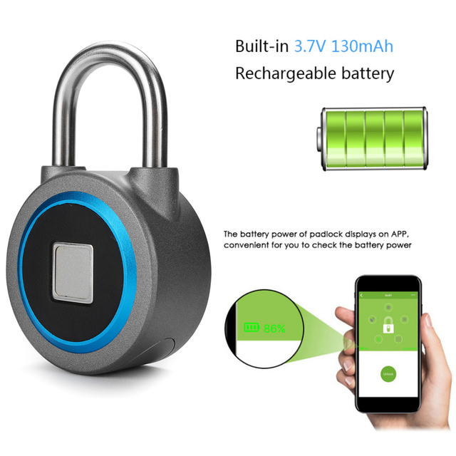 Fingerprint Recognition Bluetooth Keyless Lock – Waterproof 1