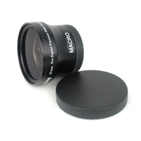 Professional Digital Lens Replacement 37mm 0 45x Wide Angle Macro Conversion Lens For Camcorders 37 0
