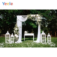 Yeele Wedding Photocall Forest Lawn Curtain Frame Table Flowers Photography Background Photographic Backdrops for Photo Studio цены