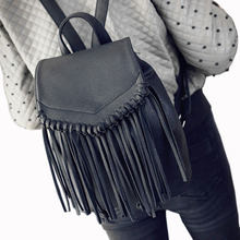 2017, Новая мода рюкзак женские из искусственной кожи с бахромой кожаные сумки повседневные Лидер продаж элегантный дизайн для девочек рюкзак 5 цветов бахрома сумки